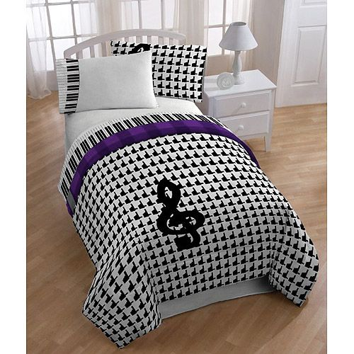Music Notes Bedding Set Twin