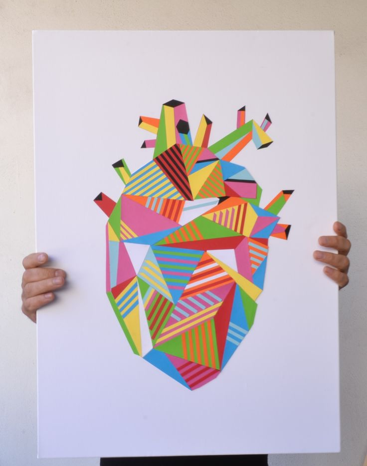 my new heart.... #heart #humanheart #geometric #geometricheart #geometryheart #teodosio #collage #papercollage