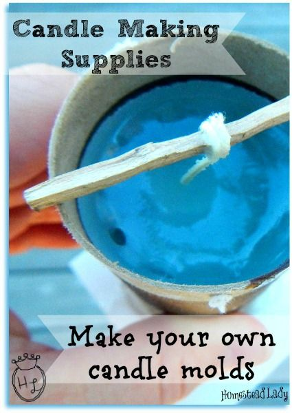 Candle Making Supplies l Make your own candle molds from upcycled materials of every sort l Homestead Lady (.com)