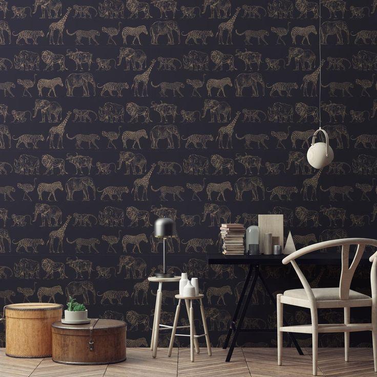 Graham Amp Brown Boutique Wallpaper Safari MidnightRose