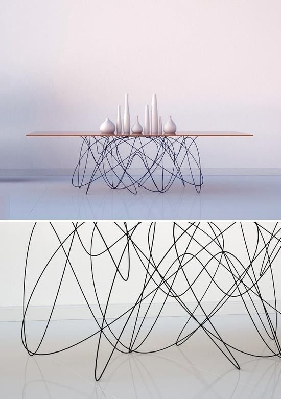 Le designer américain, Jason Phillips propose cette superbe table design nommée Quantum.