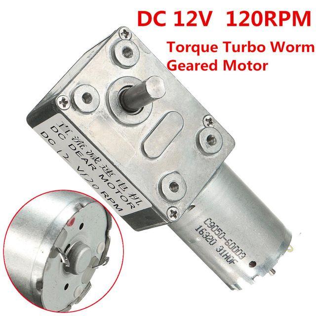 GW370 DC 12 V 120 rpm Coppia Elevata Turbo Vite Senza Fine Motoriduttore Riduttore Del Motore