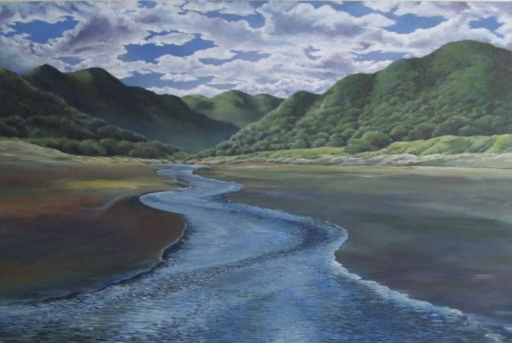 A commission of Piha, but my image, NZ Acrylic on canvas
