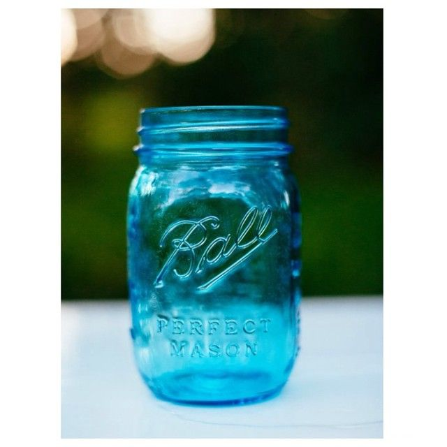 Beautiful blue mason jars can be used for glasses, vases, tea light holders etc. Contact Sue and Tessa for hire and quantity enquiries. #willowandvine #blue #masonjars #party #wedding #eventdecor #vases #glasses #lanterns #styling #hightea #event
