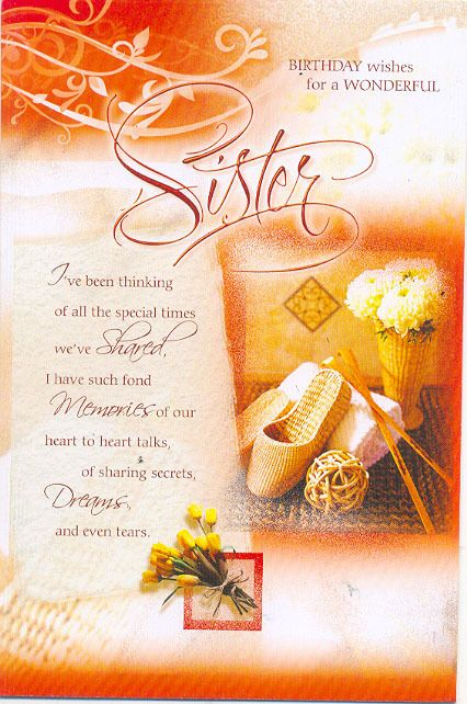 25 best ideas about Sister birthday message – Birthday Card for Sister