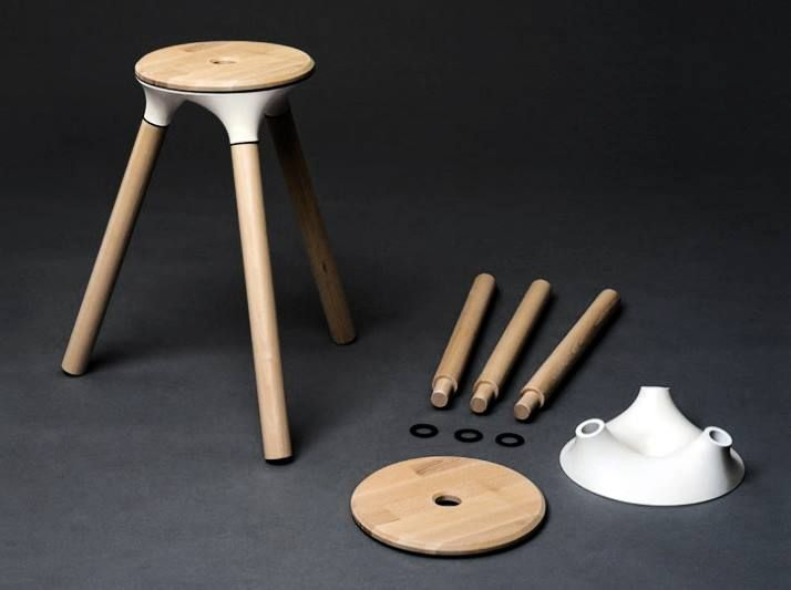 Simple and elegant stool by Nico Reinhardt