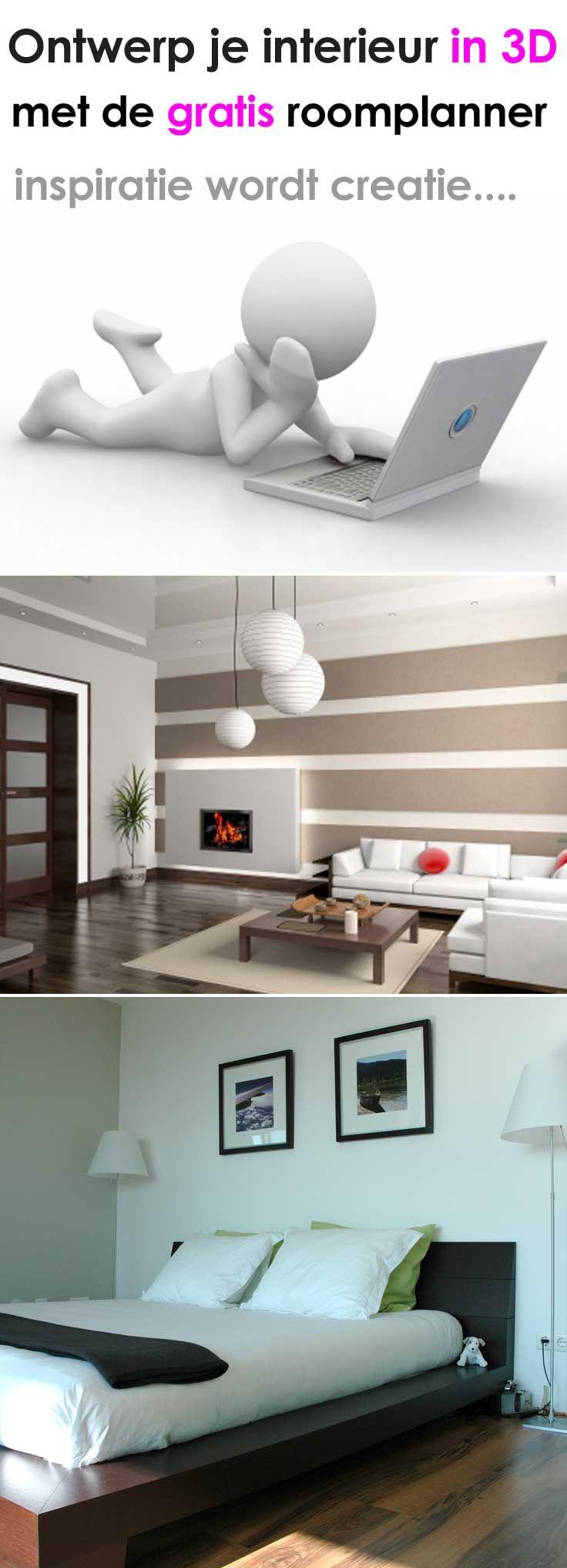 3D interieur ontwerpen met de gratis roomplanner op http://www.roomplanner-online.nl/