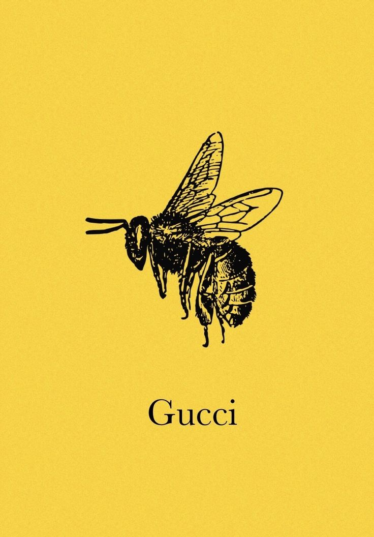 Tumblr Yellow Gucci Bee Iphone Wallpaper