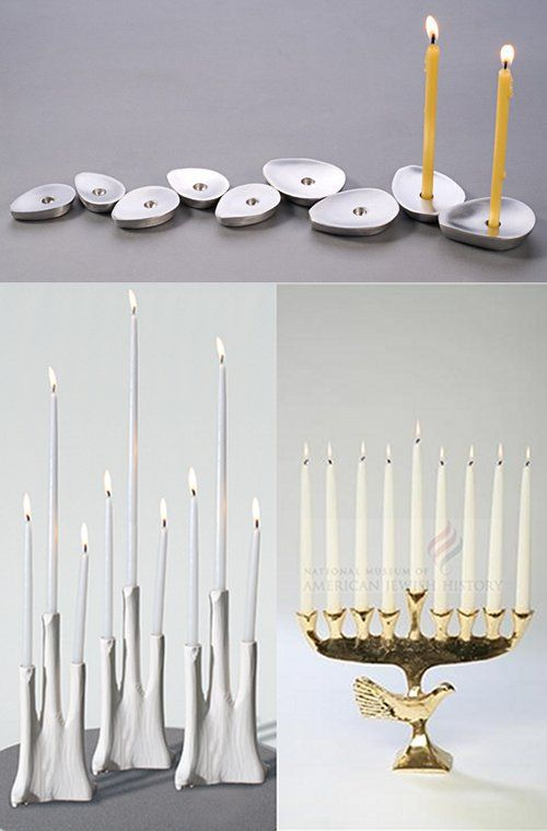 Click through for some other (very cool) modern menorahs