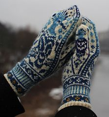 """Knit - """"Hoopoe"""" Mittens (paid pattern, $6) (2 of 2)"""