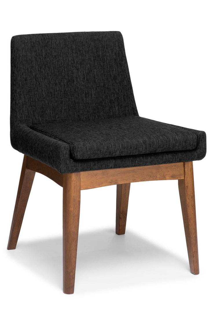 Set of armchairs and rocking chairs just out from beneath the shelter - 2x Black Dining Chair Solid Wood Legs Article Chanel Modern Furniture