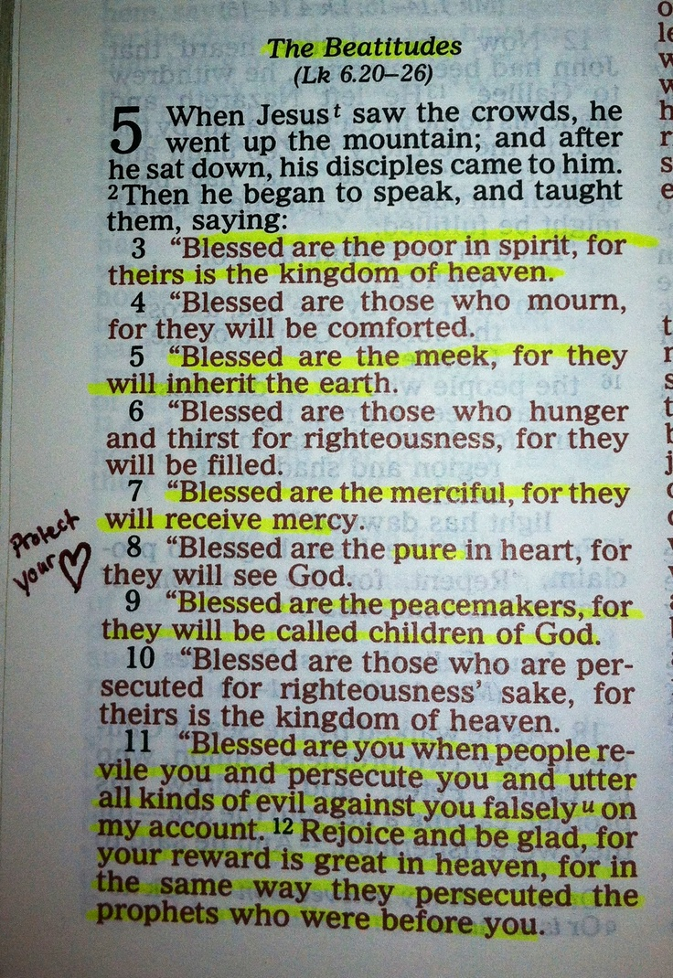 Matthew 5:1-12 More at http://ibibleverses.com