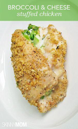 Broccoli and cheese stuffed chicken! YUM!