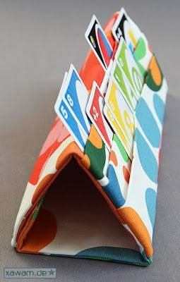A GREAT idea for kids to hold onto all of their cards:  No pattern and in a different language.