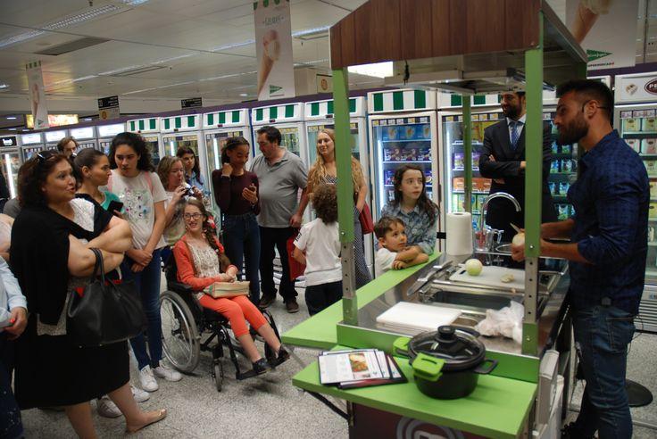 Showcooking do Isaac Alfaiate no El Corte Inglés Gaia Porto.