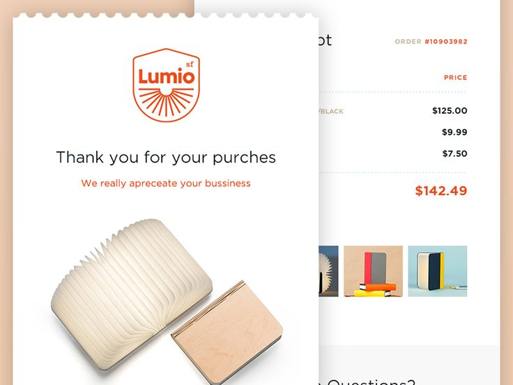 Daily UI #017 - Email Receipt + Free PSD