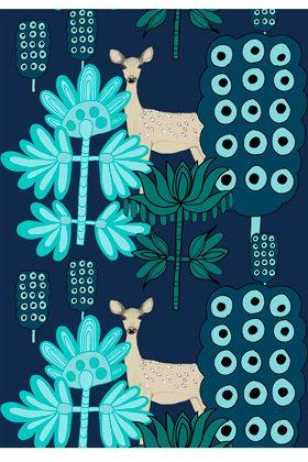 Kaunis Kauris cotton fabric by Marimekko