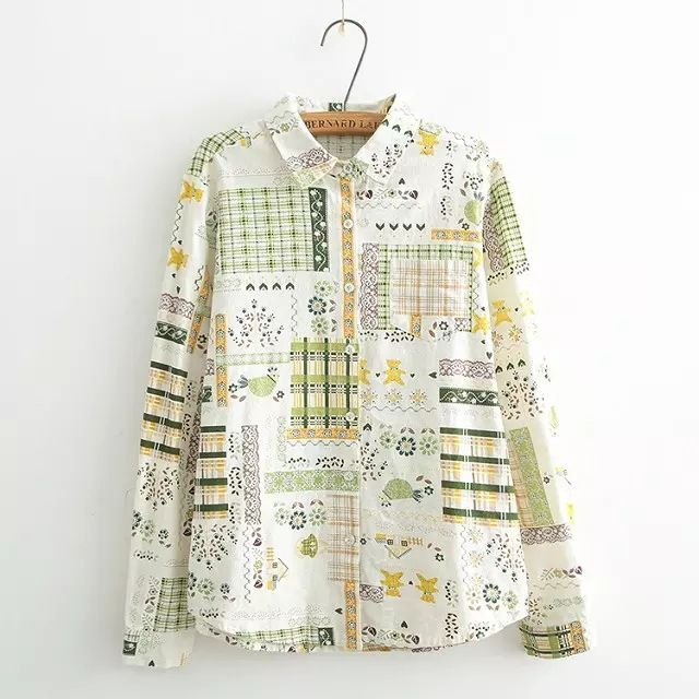 Ethnic Pattern Llinen Shirt (B0088)    #caterpillar #barnard #lafond #bernardlafond #cottage glaze #groove #moda #shop #shopping #blouse #womenblouse #girlsblouse #shop