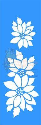 Stencil Flor Natalina 10x30 - OPA