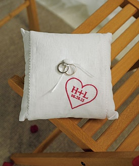 personalized ring pillow $31.98, ring bearer pillow, wedding ceremony accessories