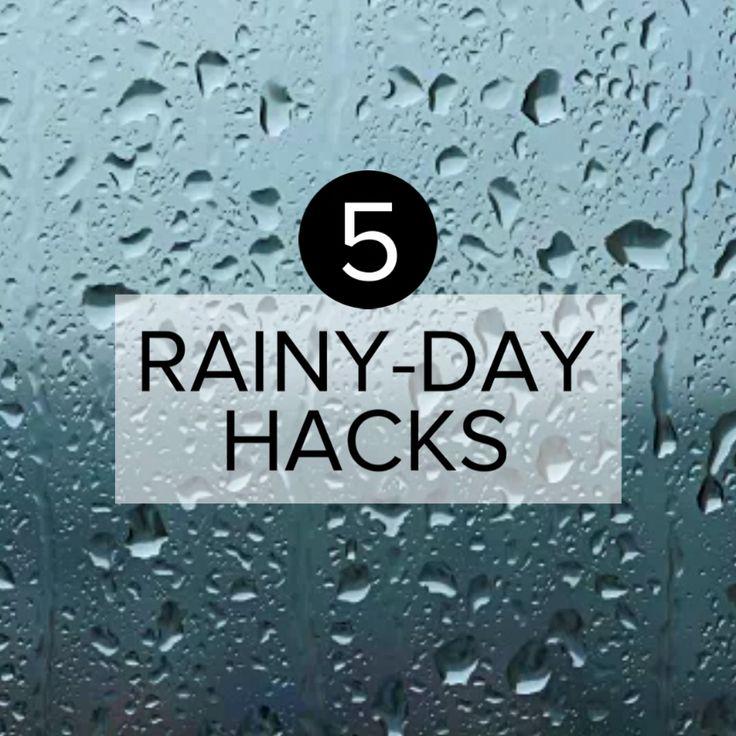 5 Easy Rainy-Day Hacks #hack #simple #fix #boots #umbrella