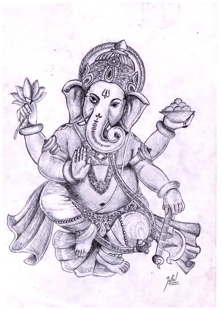 Pencil sketch of lord ganesha
