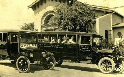 New school buses, 1921