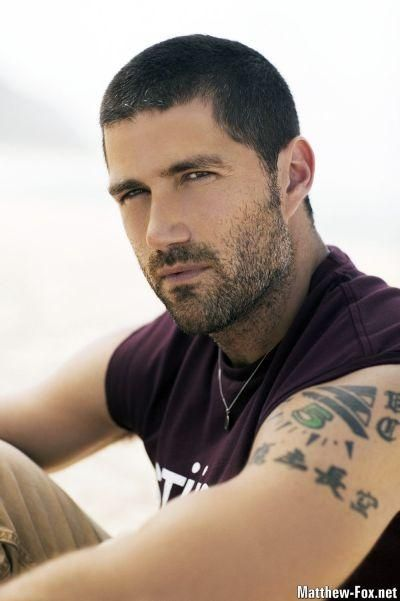 Matthew Fox...LOST love him with his hair like this...it looks better short than grown out, IMO