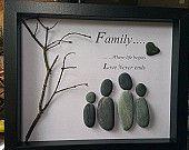 Ähnliche Artikel wie Familie Kiesel-Kunst auf Etsy