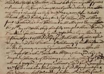 A secret agreement among pirate hunters, signed by Captain William Kidd, 1696. (Gilder Lehrman Collection)