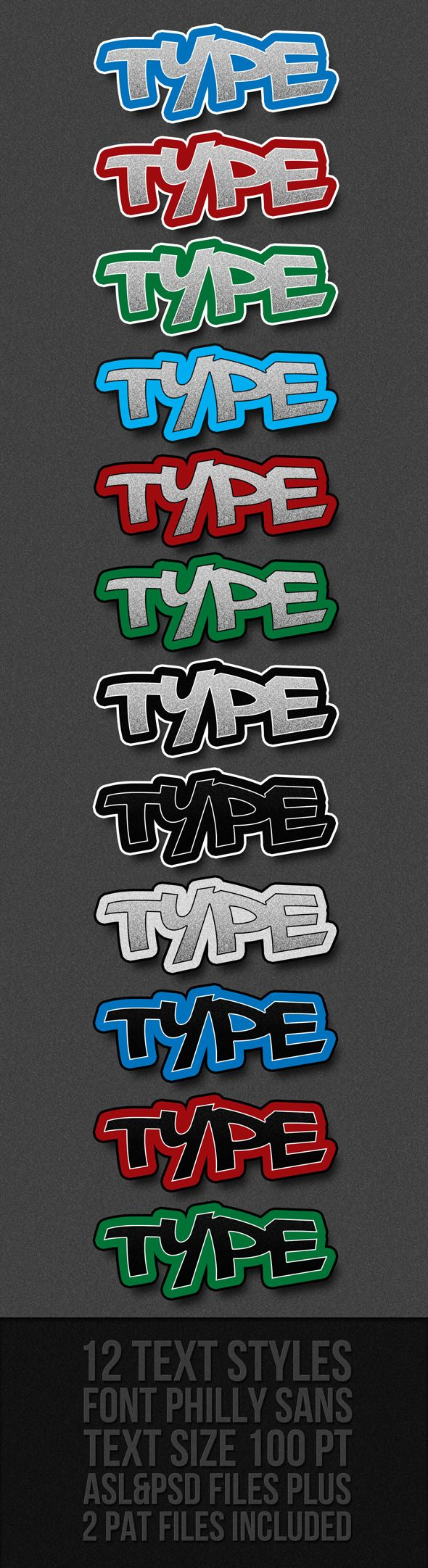 Graffiti Text Styles — Layered PSD #layer styles #white • Available here → https://graphicriver.net/item/graffiti-text-styles/301630?ref=pxcr