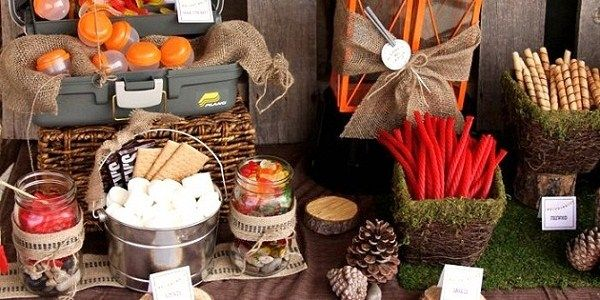 Camping parties are really popular this year, and we've featured quite a few here on the blog. The interesting thing is that no matter how many of the same elements are used in each party, they all look so different! This latest one was created by Stephanie of MonMell Designs, and incorporates lots of mossy …