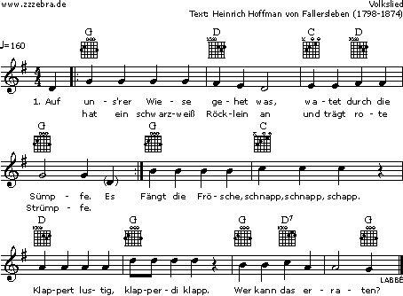 Auf unsrer Wiese gehet was - Kinderlieder und Singspiele | Labbé Verlag