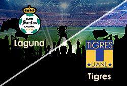 ABIERTAS LAS APUESTAS LIGA MEXICANA  VIERNES 16 DE AGOSTO SANTOS LAGUNA Vs TIGRES  www.hispanofutbol.com