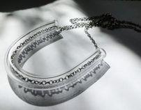 plexi tube necklace with chain Ela Piętak