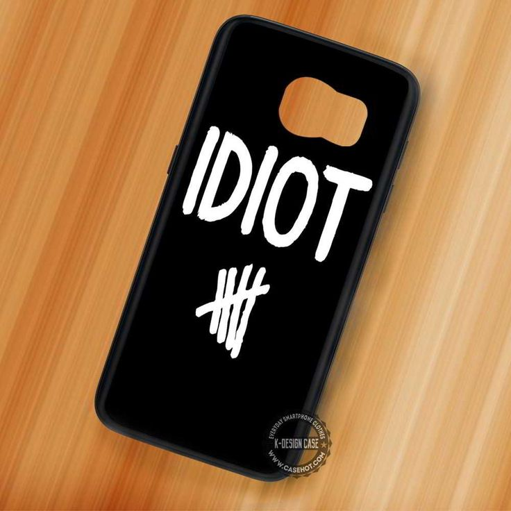 Idiot 5SOS Michael Clifford Quote - Samsung Galaxy S7 S6 S5 Note 7 Cases & Covers
