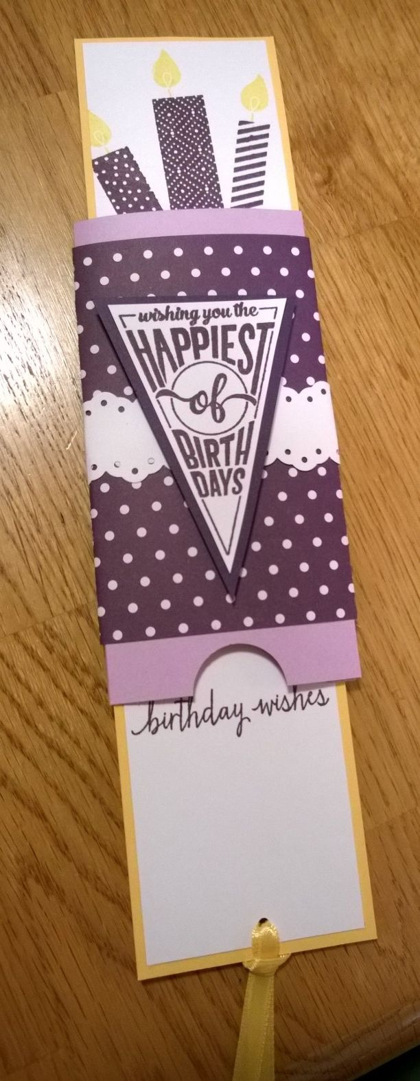 Stampin Up Sweet Stack Stampin Up Build A Birthday Double Slide Card-Open Thank you Linda Bauwin for the base card idea!