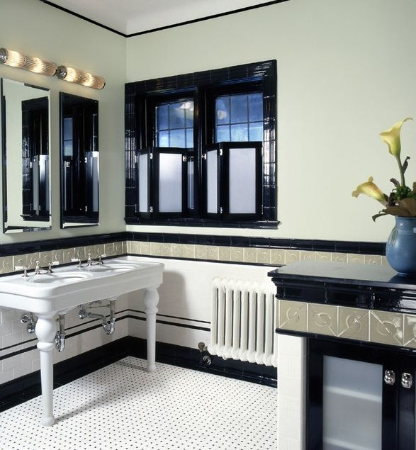 Like the sink 1930s Home Decor | 1930s era bathroom | Home decor