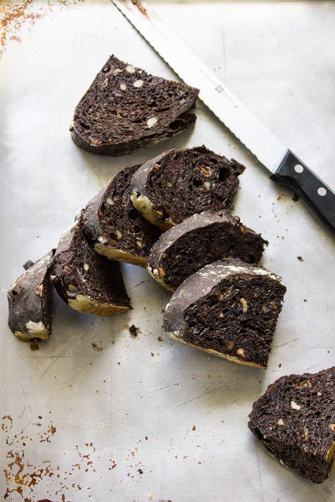 A unique recipe for sourdough noir (chocolate sourdough).
