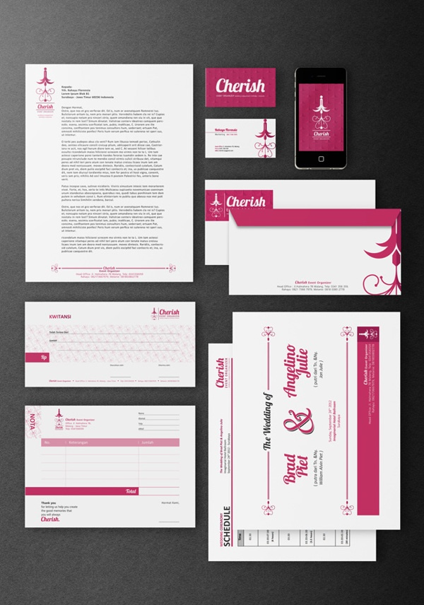 Cherish Event Organizer - Logo & Identities by Indra Permana, via Behance