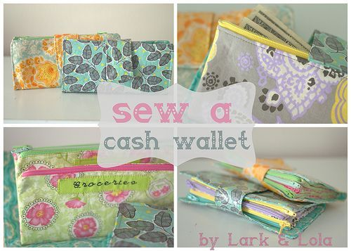 Instructions on how to sew an envelope-system wallet! I'm not a big fan of sewing, but I might try this!