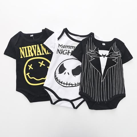 2476dc6ee Summer Fashion Baby Boys Halloween One-piece Bodysuit Mommy s Little ...