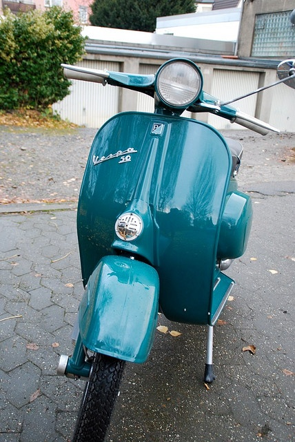Vespa Blue...it's not a car..but its a nice motorcycle