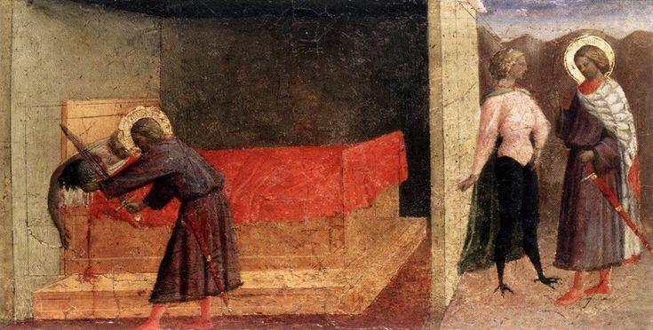 Masolino da Panicale, parte antico trittico Carnesecchi, Museo Ingres-Mountaban (F)