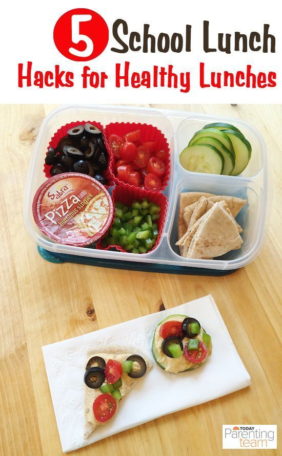 """Hacks for healthy school lunches. """"VOTE UP"""" this post on Today if you like it :)"""