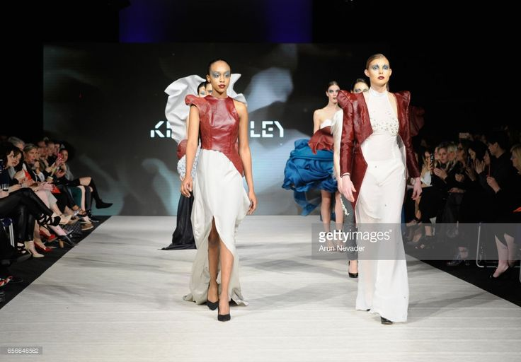 Models walk the runway wearing Kirsten Ley at Vancouver Fashion Week Fall/Winter 2017 at Chinese Cultural Centre of Greater Vancouver on March 22, 2017 in Vancouver, Canada.