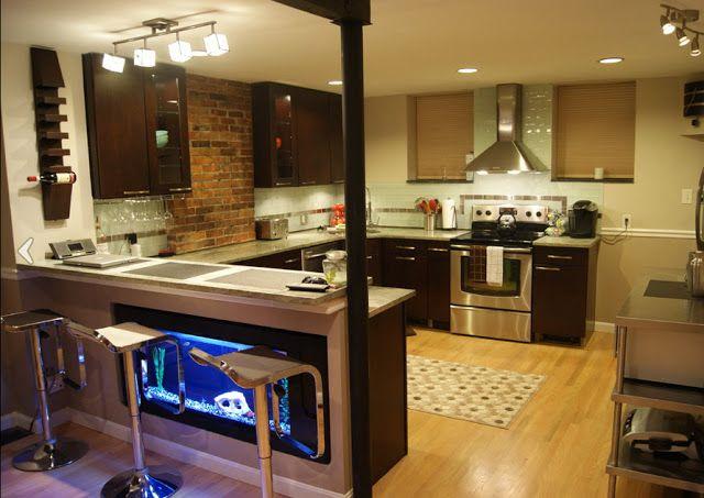 The Kitchen Aquarium An Unexpected But Inspiring Design Detail Kitchen Bar Design Ideas