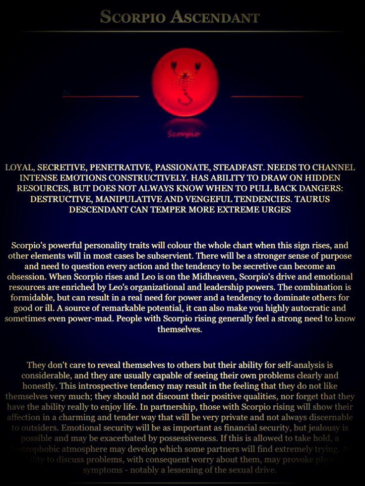 astrology (Scorpio Ascendant) scorpio rising