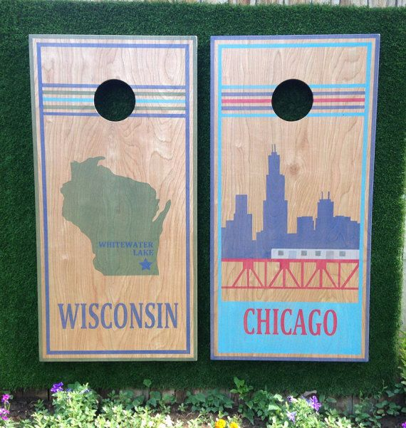 Remember that time you had a best friend? And you wanted to hang out with that friend all of the time? This year, your best friends name is Cornhole. Mix and Match any of the boards you see to make your own unique set. Handmade and painted in Denver, Colorado, this Cornhole is casual and easy going and plays well with others. Find your best friend amongst our existing Cornholes. If you don't find him or her, email us and we'll help you design your best friend.  Game on Friends.  For serious…