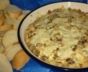 Philly Cheese Steak Dip. This dip is seriously soooo good, it will definitely be on the Superbowl menu!